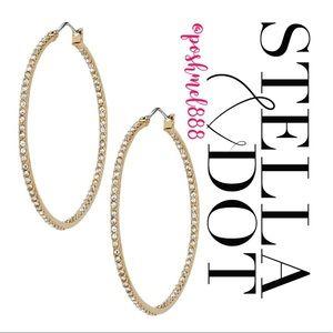 :: Stella & Dot GOLD Adelaide Hoops